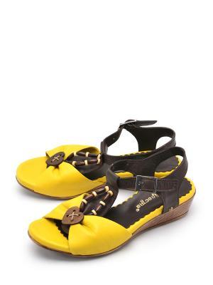 Босоножки SPECTRA. Цвет: желтый