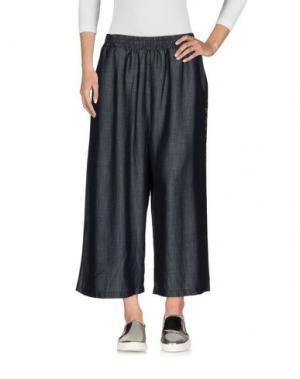 Джинсовые брюки-капри NOLITA. Цвет: синий