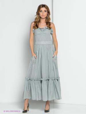 Платье YUVITA. Цвет: голубой