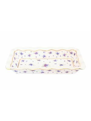 Блюдо для заливного Сиреневый туман Elan Gallery. Цвет: золотистый