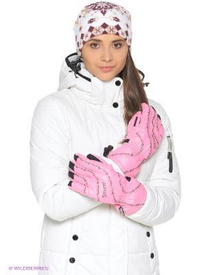 Перчатки Stayer. Цвет: розовый, черный