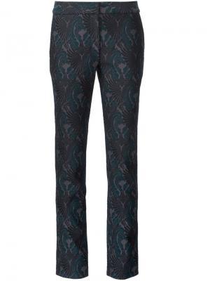 Жаккардовые брюки кроя слим Yigal Azrouel. Цвет: чёрный