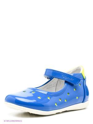 Туфли Kakadu. Цвет: синий, салатовый