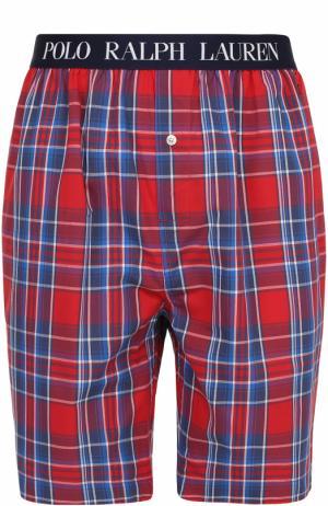 Хлопковые домашние шорты свободного кроя Ralph Lauren. Цвет: красный