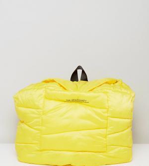 The New County Желтый стеганый оверсайз-рюкзак. Цвет: желтый