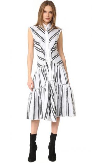 Платье без рукавов на пуговицах Zac Posen. Цвет: белый