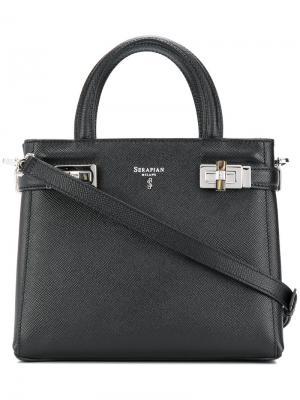 Мини сумка Meline Serapian. Цвет: чёрный