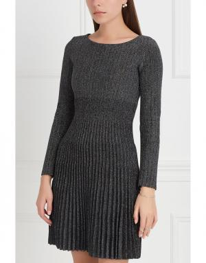 Шерстяное платье Antonino Valenti. Цвет: темно-серый
