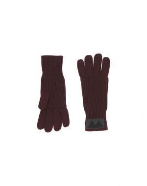 Перчатки MARC BY JACOBS. Цвет: баклажанный