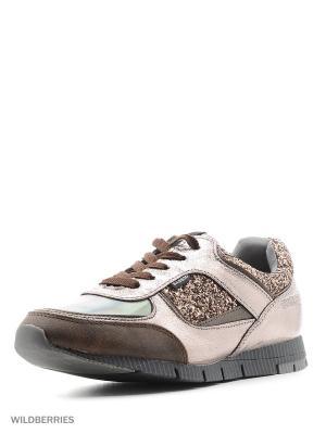Кроссовки BASS3D. Цвет: бронзовый