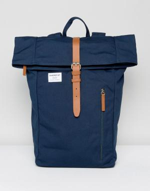 Sandqvist Темно-синий рюкзак с ролл-топом Dante. Цвет: темно-синий