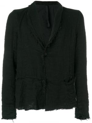 Пиджак с потертой отделкой Poème Bohémien. Цвет: чёрный