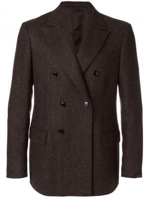 Двубортный пиджак Mp  Massimo Piombo. Цвет: коричневый