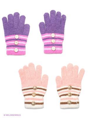 Перчатки, 2 пары FOMAS. Цвет: персиковый, фиолетовый, розовый