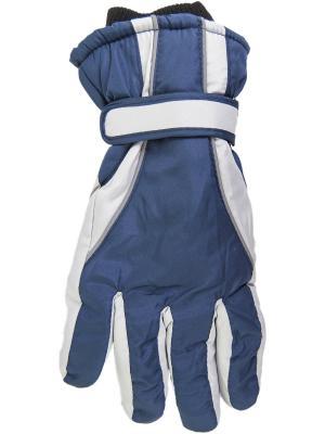 Перчатки YO!. Цвет: темно-синий, серый