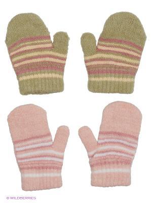 Варежки FOMAS. Цвет: розовый, белый, оливковый, молочный