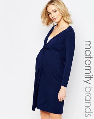 Amoralia Халат для беременных и кормящих Mandy. Цвет: синий