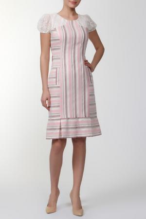 Платье Roberto Bellini. Цвет: розовый, бежевый