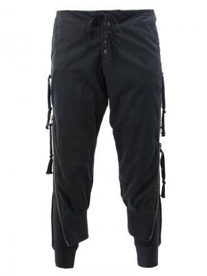Спортивные брюки Greg Lauren. Цвет: чёрный