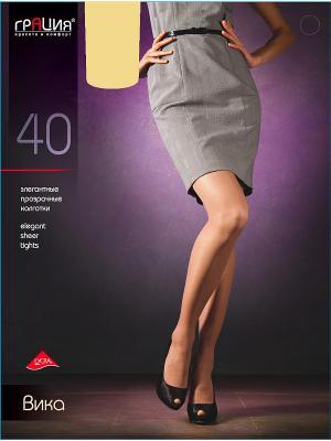 Колготки женские Вика 40 Грация. Цвет: светло-бежевый