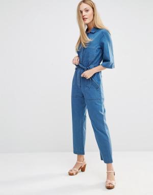 MiH Jeans Комбинезон M.i.h Montara. Цвет: синий