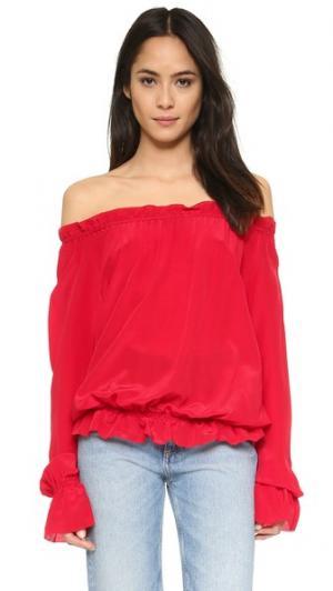 Блуза Faye с открытыми плечами Emerson Thorpe. Цвет: красный