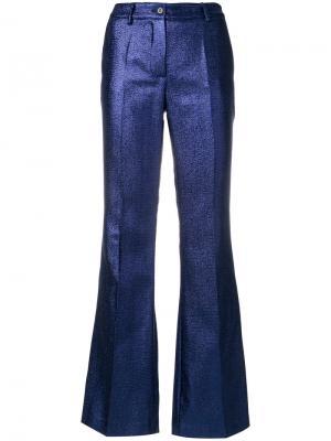 Расклешенные брюки P.A.R.O.S.H.. Цвет: синий
