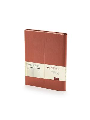 Ежедневник с магнитным клапаном, а5 waltz, (коричневый) Bruno Visconti. Цвет: коричневый