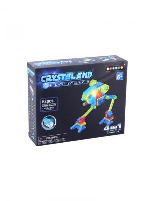 Светящийся конструктор Crystaland Луноход 4в1 63 детали Neocube. Цвет: фиолетовый