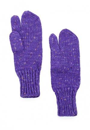 Варежки Knitted Kiss. Цвет: фиолетовый