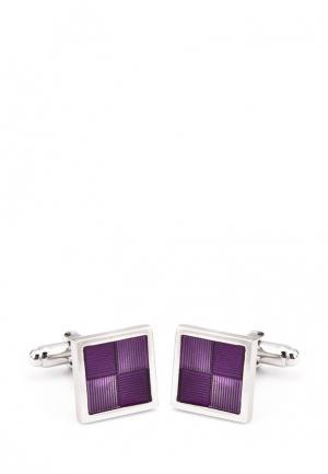 Запонки Greg. Цвет: фиолетовый, серебряный