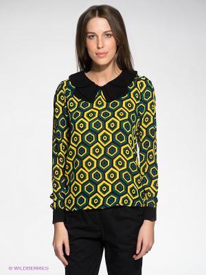 Блузка Siempre es Viernes. Цвет: желтый, морская волна, черный