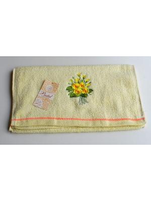 Полотенце Фиалка 30х70 La Pastel. Цвет: желтый