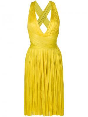 Платье Grace Maria Lucia Hohan. Цвет: жёлтый и оранжевый