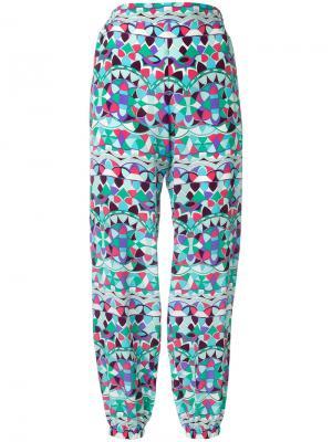 Широкие брюки с принтом Emilio Pucci. Цвет: зелёный