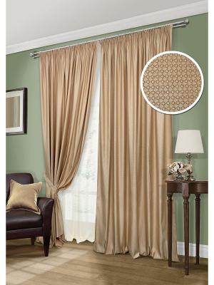 Комплект штор, Rimeni-S Kauffort. Цвет: коричневый