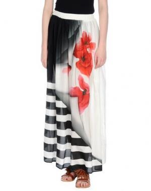 Длинная юбка CRISTINAEFFE. Цвет: белый