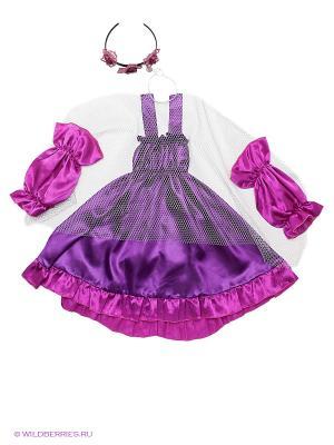 Карнавальный костюм Летучая мышь Волшебный мир. Цвет: фиолетовый, фуксия