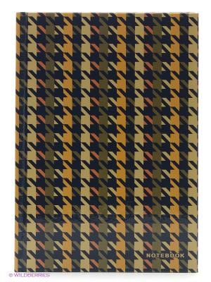 Офисный стиль. Пестрый орнамент КНИГИ ДЛЯ ЗАПИСЕЙ А5 (7БЦ) 130л. Канц-Эксмо. Цвет: белый, желтый