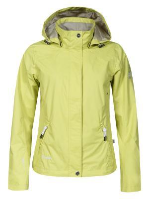 Куртка с капюшоном Rukka. Цвет: салатовый