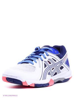 Волейбольные кроссовки GEL-TASK ASICS. Цвет: белый, коралловый, синий