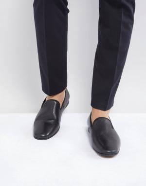 Zign Черные строгие кожаные лоферы. Цвет: черный