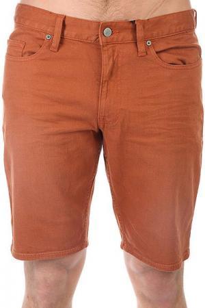 Шорты джинсовые DC Colour Shorts Ginger Bread Shoes. Цвет: коричневый