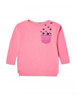 Джемпер Benetton. Цвет: розовый
