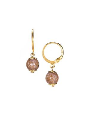 Серьги Amato цвет 272 (violet) Bottega Murano. Цвет: сиреневый, золотистый