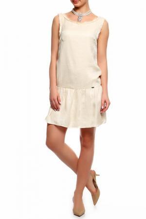 Платье Liu Jo. Цвет: кремовый