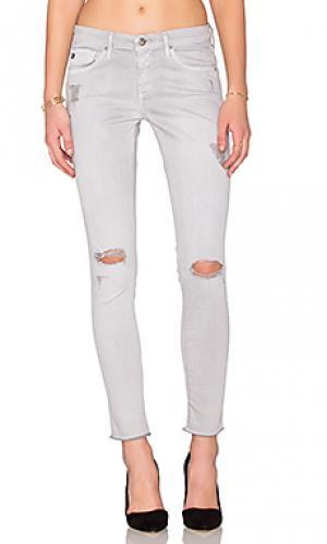 Укороченные джинсы AG Adriano Goldschmied. Цвет: none