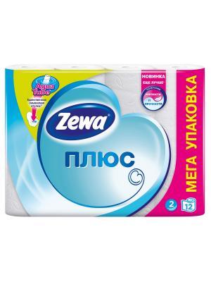 Zewa Бумага туалетная Плюс 2-ух слойная Белая 12шт. Цвет: голубой