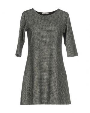 Короткое платье CIRCOLO 1901. Цвет: свинцово-серый