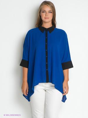 Блузка SVESTA. Цвет: синий, черный